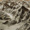 3d map of Mt Blanc massif